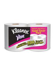 Kleenex Viva Long Lasting Mega Tissue, 2 Rolls x 500 Meters