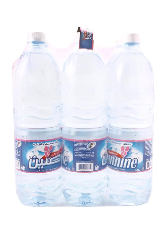 Sannine Natural Mineral Water, 6 x 1.5 Liters