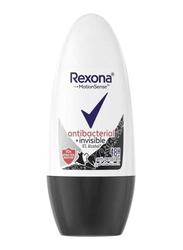 Rexona Antibacterial + Invisible Deodorant Roll On for Women, 50ml