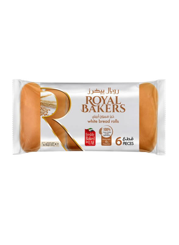 Royal Bakers White Bread Roll, 6 Pieces, 260g