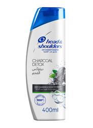 Head & Shoulders Charcoal Detox Anti-Dandruff Shampoo for All Hair Types, 400ml