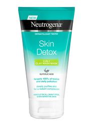 Neutrogena Skin Detox Clarifying 2-in-1 Clay Wash Mask, 150ml