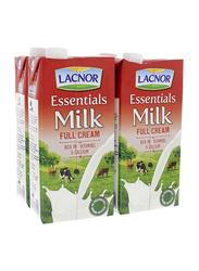 Lacnor Essentials Full Cream Milk, 4 x 1 Litre