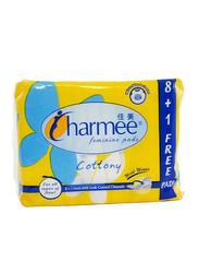 Charmee Cottony Feminine Sanitary Pads, 9 Pieces