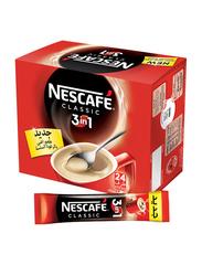 Nescafe 3-in-1 Classic Instant Coffee, 24 Sticks x 20g