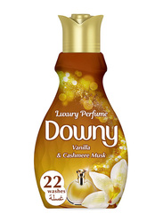 Downy Vanilla & Cashmere Musk Concentrate Fabric Softener, 880ml