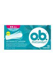 O.B ProComfort Tampons, Mini, 16 Pieces