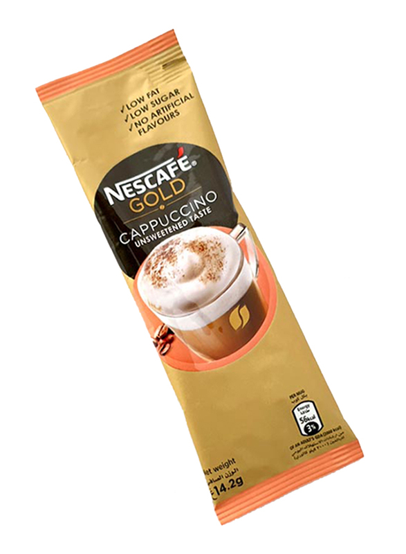 Nescafe Gold Cappuccino Unsweetened Instant Coffee Sachet, 14.2g
