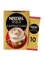 Nescafe Gold Cappuccino Low Fat Taste Coffee Mix, 10 Sachets x 17g