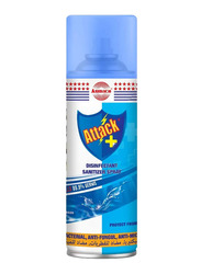 Attack Disnfectant Ocean Breeze Sanitizer Spray, 400ml