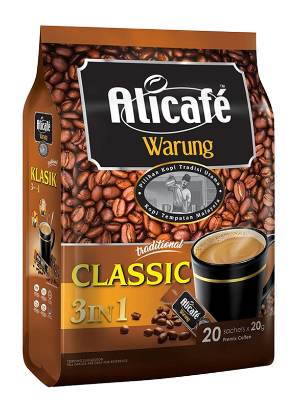 Ali Cafe Classic 3-in-1 Coffee, 20 Sachet x 20g