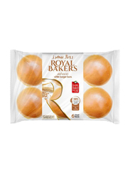 Royal Bakers Plain Burger Bun, 6 Pieces, 360g