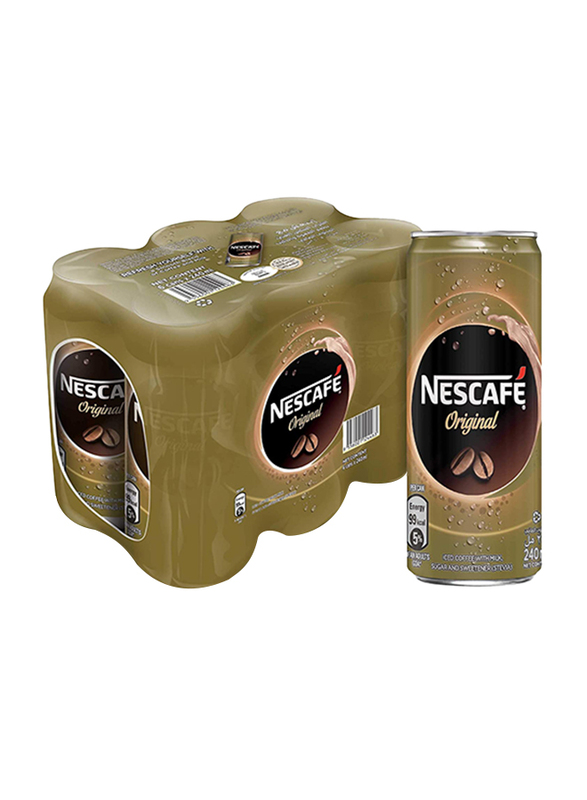 Nescafe Ready-To-Drink Original Chilled Coffee, 6 Can x 240ml