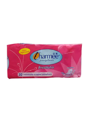 CharmeeBreathable Unscented Panty Liners, 20 Pieces