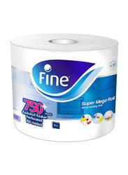 Fine Super Mega Roll Paper Towels, 750-Sheets x 2 Ply