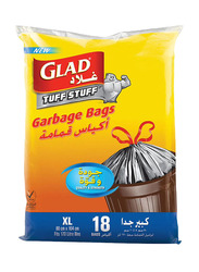 Glad Tuff Stuff Garbage Bag, Extra Large, 18 Bags x 170 Liters