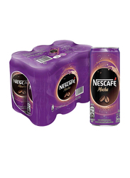 Nescafe Ready-To-Drink Mocha Chilled Coffee, 6 Can x 240ml