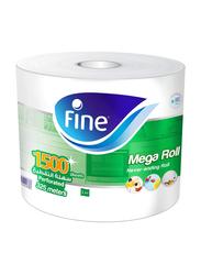 Fine Mega Roll Paper Towel, 1500 Sheets x 325 Meters x 1 Ply