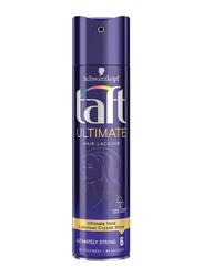 Schwarzkopf Taft Ultimate Hair Lacquer Spray for All Hair Types, 250ml