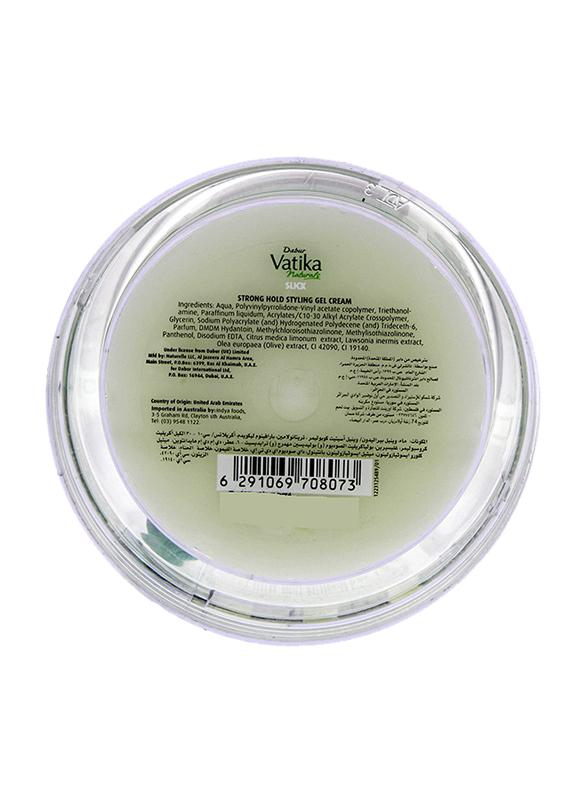 Dabur Vatika Slick Strong Hold Styling Gel Cream for All Hair Types, 250ml