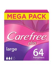 Carefree Plus Panty Liners, Large, 64-Pieces