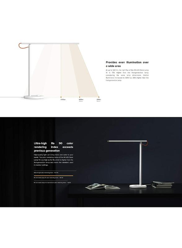 Xiaomi Mi LED Desk Lamp 1S, MUE4105GL, White