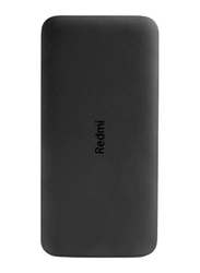 Xiaomi 10000mAh Redmi Power Bank with USB Type-C and Micro-USB Input, VXN4305GL, Black