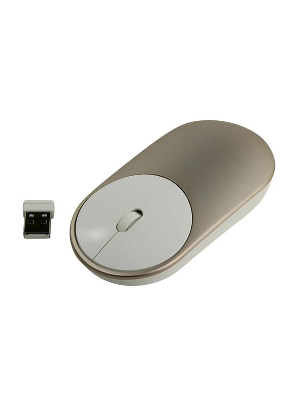Xiaomi Mi Wireless Portable Optical Mouse, Gold