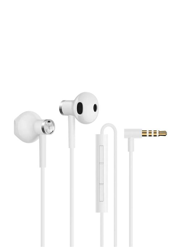 Xiaomi Mi 3.5mm Jack In-Ear Dual Driver Earphones, White