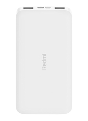Xiaomi 10000mAh Redmi Power Bank with USB Type-C and Micro-USB Input, VXN4286GL, White
