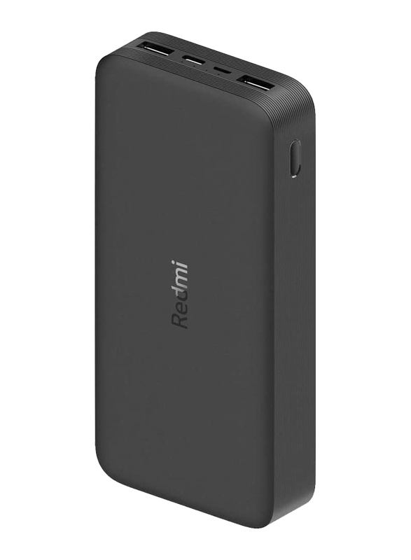 Xiaomi 20000mAh Redmi 18W Fast Charge Power Bank with USB Type-C and Micro-USB Input, VXN4304GL, Black