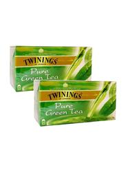 Twinings Pure Green Tea, 2 Packs x 25 Tea Bags