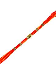 Dana A46 Designer Handcrafted Rakhi, Orange/Gold