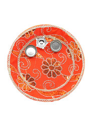 24cm Basanti Pooja Thali, Orange