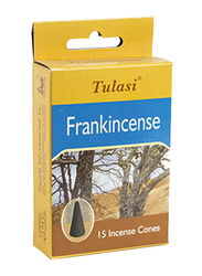 Tulasi Frankincense Incense Dhoop Cones, 15 Pieces, Yellow