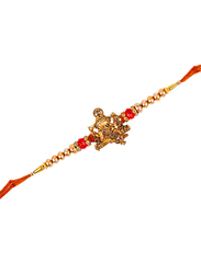 Dana A16 Designer Handcrafted Rakhi, Red/Gold