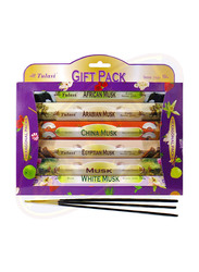 Tulasi Musk Incense Sticks, Gift Pack, 6 Pieces, Multicolor