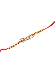 Dana A22 Designer Handcrafted Rakhi, Red/Gold