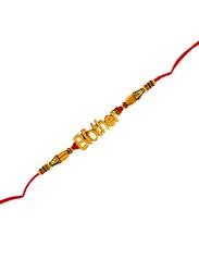 Dana A19 Designer Handcrafted Rakhi, Red/Gold