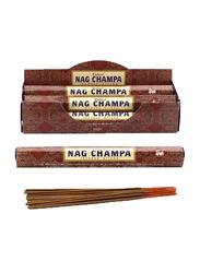 Tulasi Nag Champa Incense Sticks, 6 Pieces, Brown