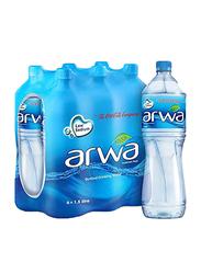 Arwa Drinking Water, 6 Bottles x 1.5 Liter