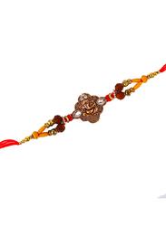 Dana A17 Designer Handcrafted Rakhi, Red/Gold