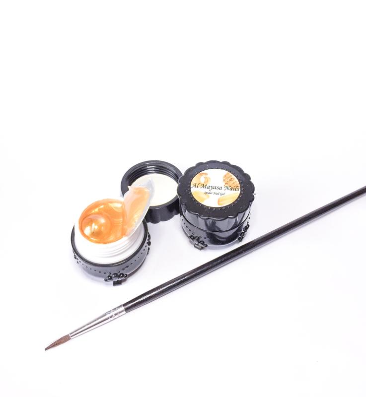 Al Mayasa Nails UV Spider Nail Gel Kit, 5ml, Gold