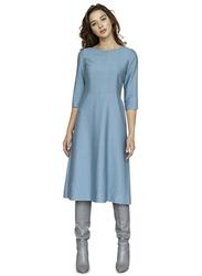 El Flair Emma 3/4 Sleeves Midi Dress, 12 UK, Blue