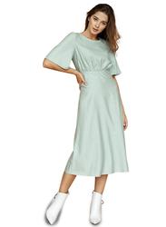 El Flair Lily Short Flared Sleeve Midi Dress, 10 UK, Turquoise