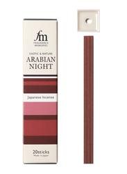 Nippon Kodo Fragrance Memories Exotic & Nature Arabian Night Incense Sticks, 20 Sticks, Red