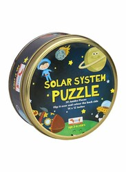 CocoMoco Kids 2 in 1 Solar System Colouring Puzzle, 30 Pieces, Ages 2+