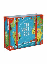 CocoMoco Kids World Box Learn Geography with Activity Box, 100 Pieces, Ages 5+