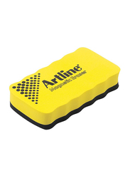 Artline Magnetic White Board Eraser, Black/Yellow