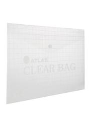 Atlas Plastic File Folder, Clear/Grey